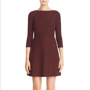 Theory | Kamilina saxton wool maroon dress